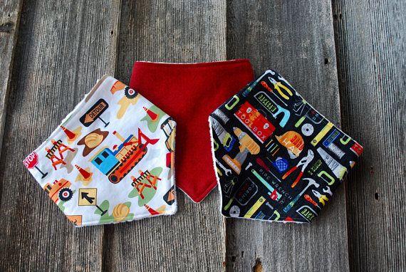 Bandana Bib Set of 3 Infant Drool Bib Toddler Bandana Bib