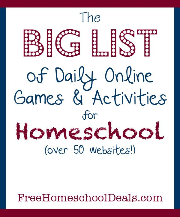 The BIG LIST of 50+ Free Online Games and Activities for #Homeschool Students