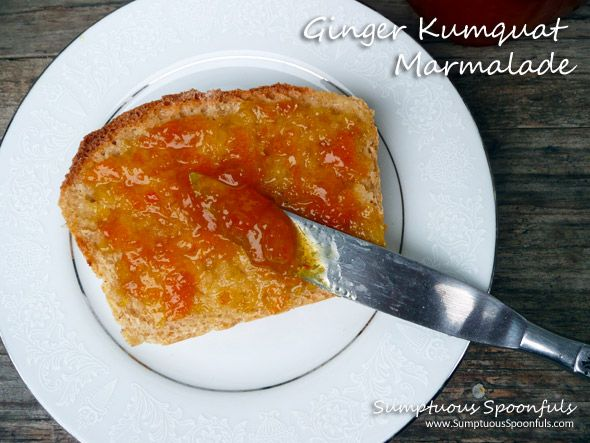 Super Easy Ginger Kumquat Microwave Marmalade