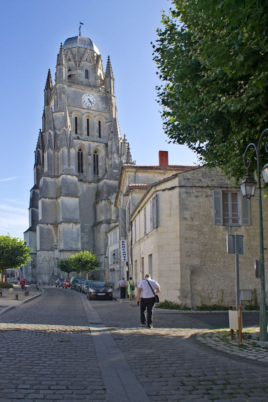 Walking toward the old cathedral, Saintes, France