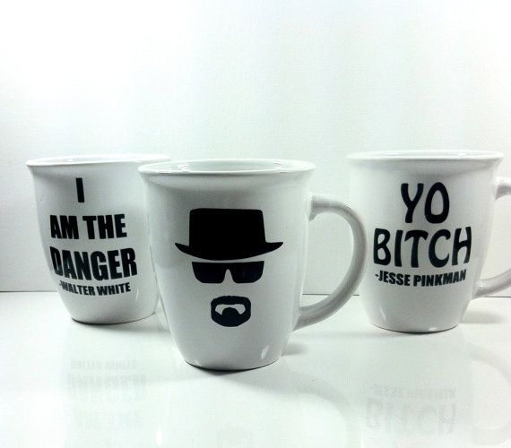 Breaking bad coffee cup set coffee mugs by QuiteUniqueBoutique, $20.00