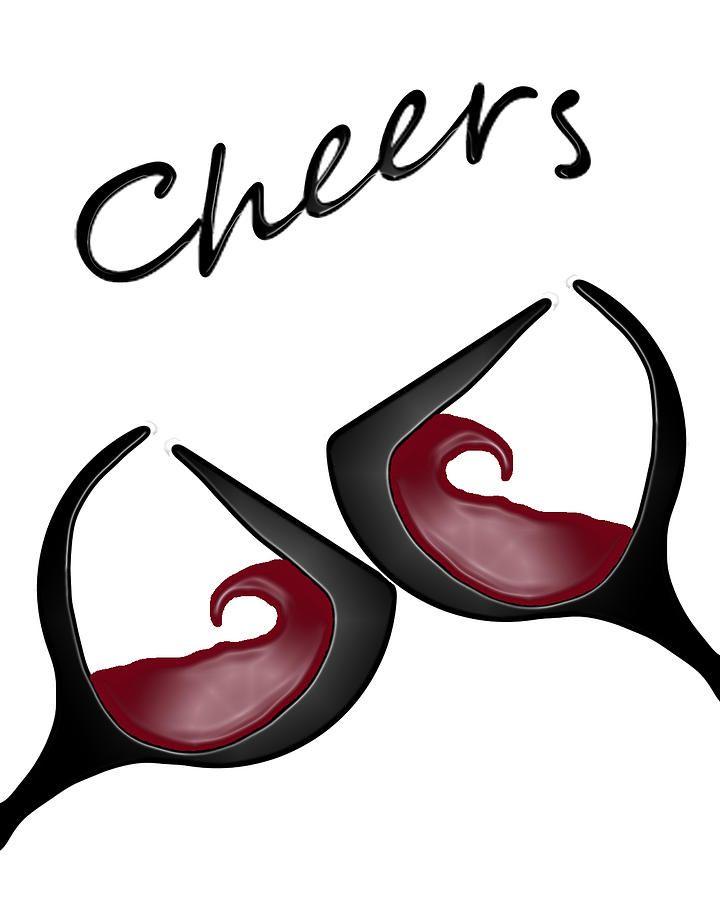 """Cheers!"" by Brian Roberts - Red Wine glass Art #swirl #BandW #cMaroon"
