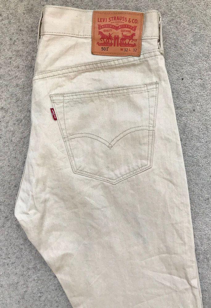 7d81ec79 LEVIS 501 DENIM JEANS! MENS W32/L32 DARK CREAM! STRAIGHT LEG! RED TAB! # fashion #clothing #shoes #accessories #mensclothing #jeans (ebay link)