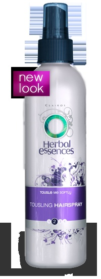 Herbal Essences Tousling Hairspray -great for scrunched hair, has just enough hold to keep it soft, wavy, and frizz-free