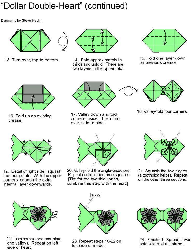 Easy Origami Money Heart Tutorial - DIY - Paper Kawaii - YouTube | 960x735