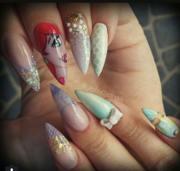 Disney Princess Nails: Best 25+ Little Mermaid Nails Ideas On Pinterest