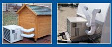 Shop Dog House Heaters and Air Conditioners | CozyWinters~if we ever end up building a dog house for the wuppets!