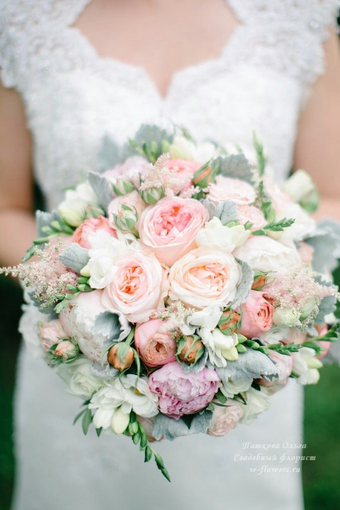 Букет невесты с пионовидными розами и пионами. Флорист Пашкова Ольга. #букет…