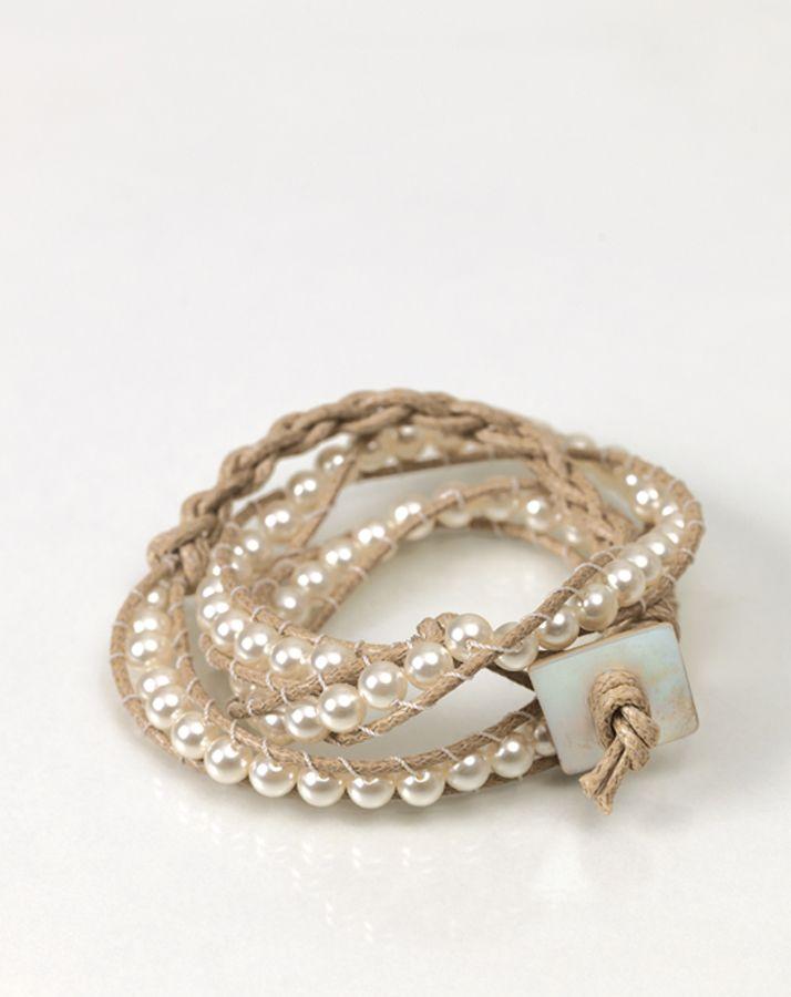 Mit Perlen geknüpftes Armband - Do it Yourself, DIY, Perlenkette, Brautjungferngeschenke, Schmuck, Selbermachen, Anleitung
