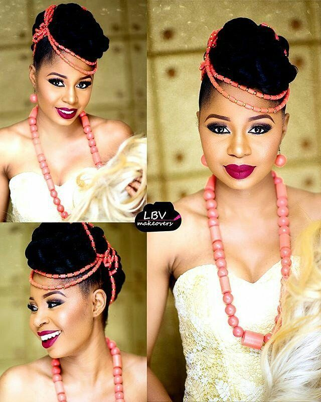 Sweet! @lbvmakeovers says Earlymorning dose of cuteness of my darling Igbo bride…