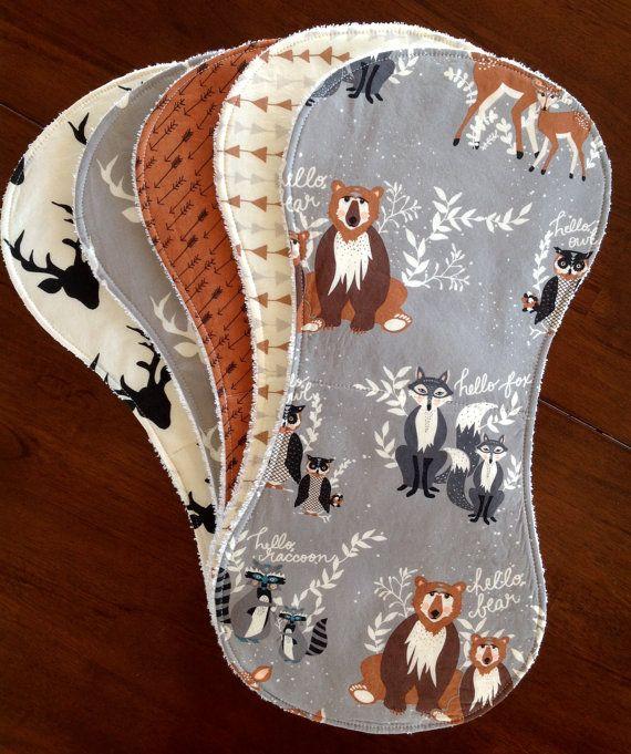 Burp Cloths-Boy Burp Cloths-Burp Cloth-Burp Clothes-Burp Cloths Boy-Woodland Burp Cloth-Deer Burp Cloth-Burp Rags-Burp Cloths Etsy-bbsprouts