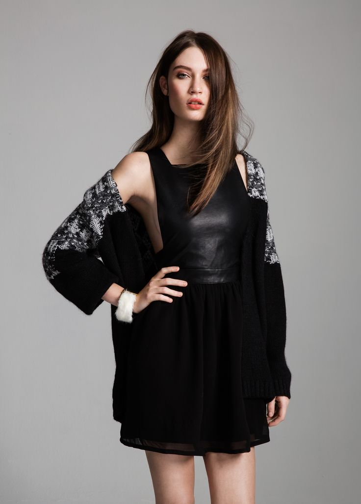 Cade cardigan & Decibel dress #Cade #cardigan #Decibel #dress #AW14 #Lookbook #SuperTrash