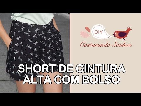 Short de Cintura Alta com Bolso - YouTube