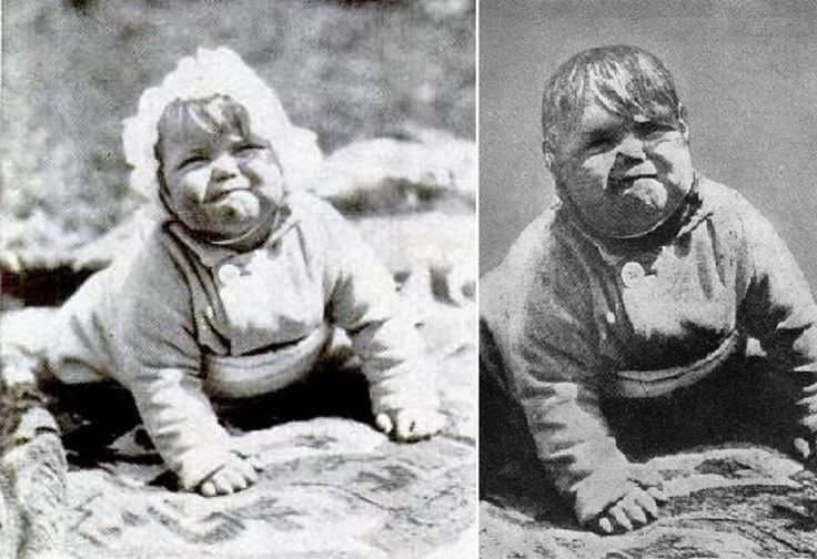 """The True Story of Hitler's Fake Baby Photo Baby Johnny on the left; """"Baby Hitler"""" on the right."""