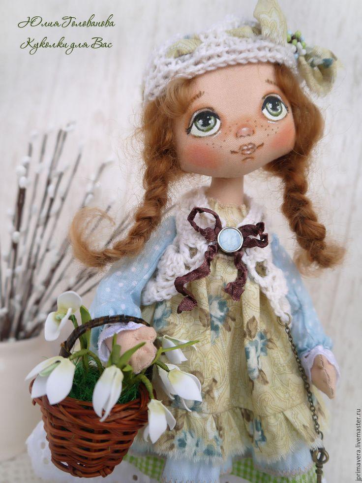 """Купить КУКЛА ТЕКСТИЛЬНАЯ """"Олечка - Приближение весны"""" - текстильная кукла, кукла, кукла текстильная"""