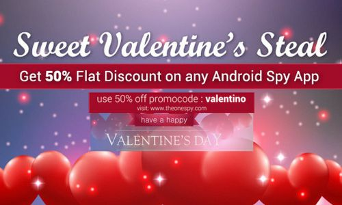 This Valentine's enjoy the mind blowing 50% Discount on the Spy app TheOneSpy new version 1.3.4.2 with latest updated features spy call, IMO, twitter, zalo screen recording.