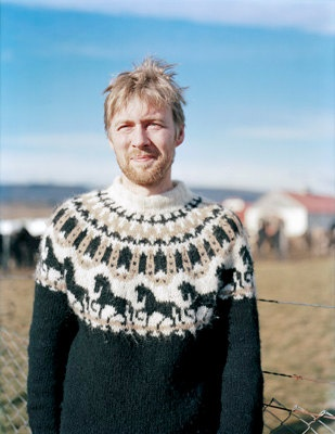 Icelandic sweater with horses