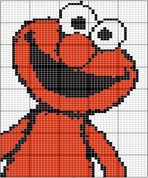 Cartoon Characters Knitting Patterns : Sesame street cartoon characters graphs knitting