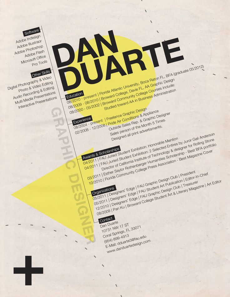 Examples of graphic design resumes