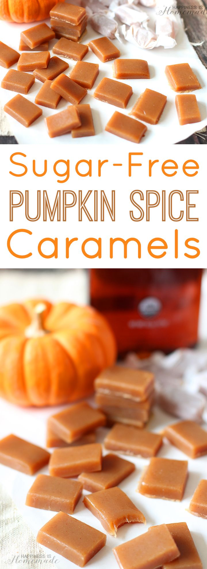 Sugar-Free Pumpkin Spice Caramels with Agave #InTheRaw from @InTheRawBrands - ad Happiness is Homemade
