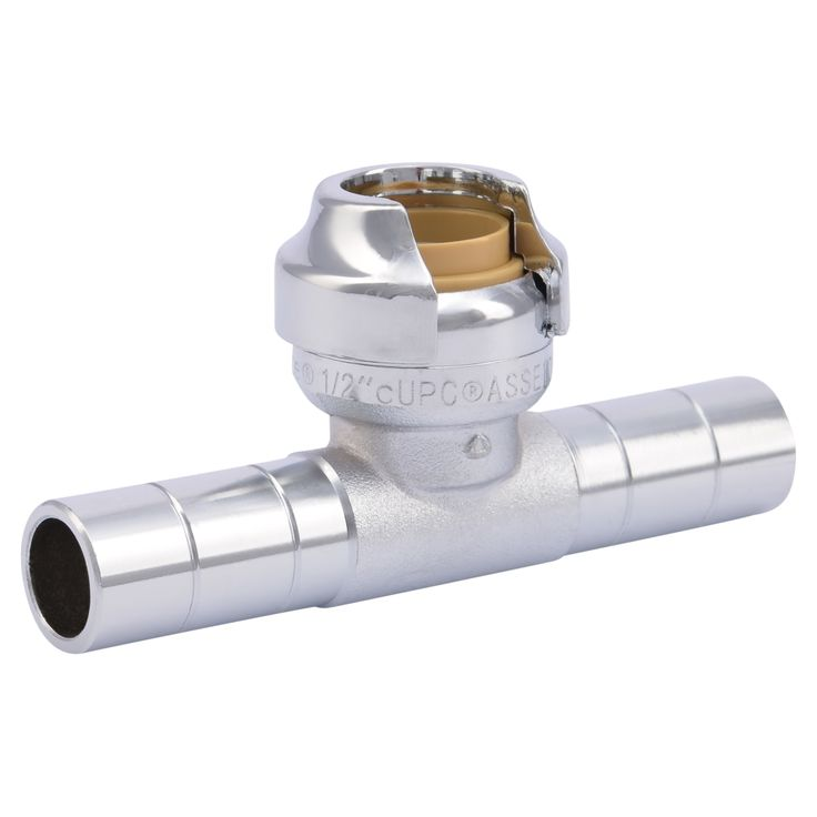 The SharkBite Dual Tee Stop fitting is the fastest and easiest way to add up to 2 supply lines in your plumbing system. These fittings are ideal for pairing with Straight Stops or Angle Stops to add shut-offs for fixtures such as dishwashers, sinks etc. These fittings are available in copper tube sized (CTS) or …