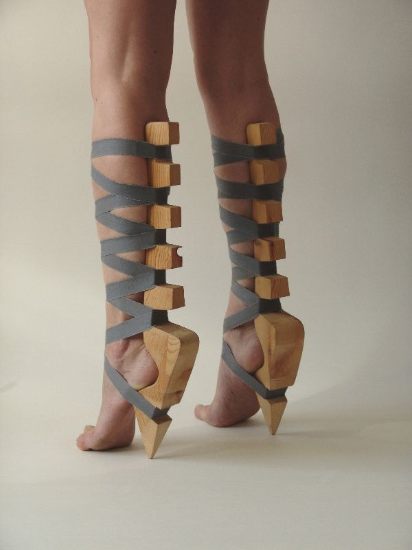 people are so weird high heels hurt enough and now they want some shoes without the cushion area!!!