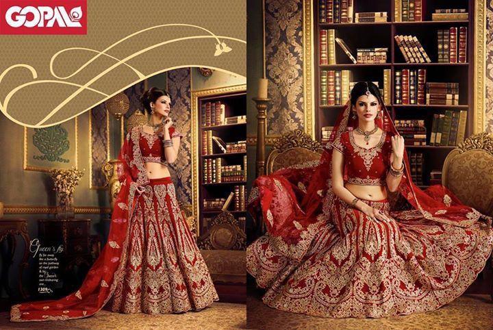 Brace the Conventional Elegance at Shoe-String Budget!  Bridal Wear starting from INR 19,999  #LehengaCholi #BridalWear #OnlyGopal