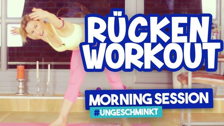Rückentraining zu hause   Workout Anfänger   Morning Session #ungeschmin...