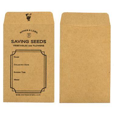 WORKS & LABO.(ワークス&ラボ)SAVING SEEDS(種保存封筒)20袋入り - Lifetime