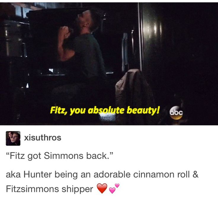 I love how much Hunter ships Fitzsimmons. He's the best I love this reaction so much