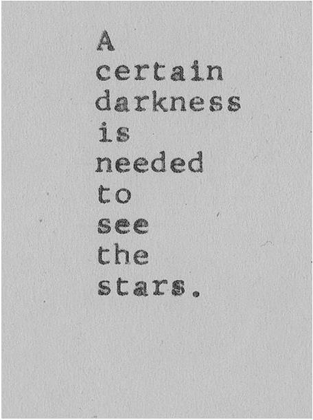 A certain darkness… STARS!