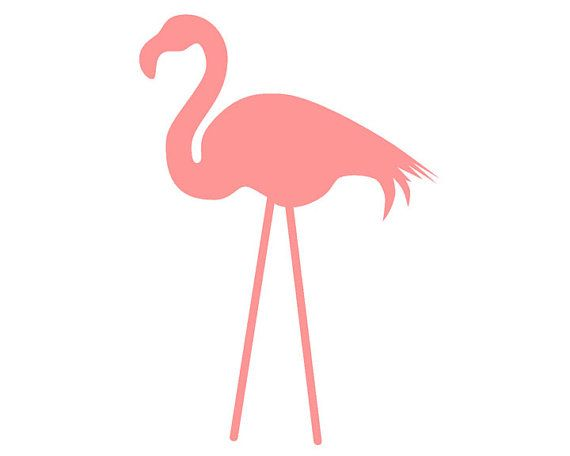 Yard Flamingo Vinyl Decal Sticker, Many Sizes and Colors Available