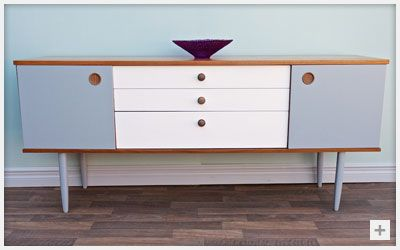 Paint sideboard add new knobs = stunning updated furniture #refurbished #painted #sideboard #lounge