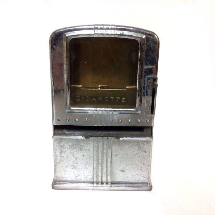 Vintage Antique Cigarette Vending Machine Dispenser Lester Ware Lucky Strike Gum