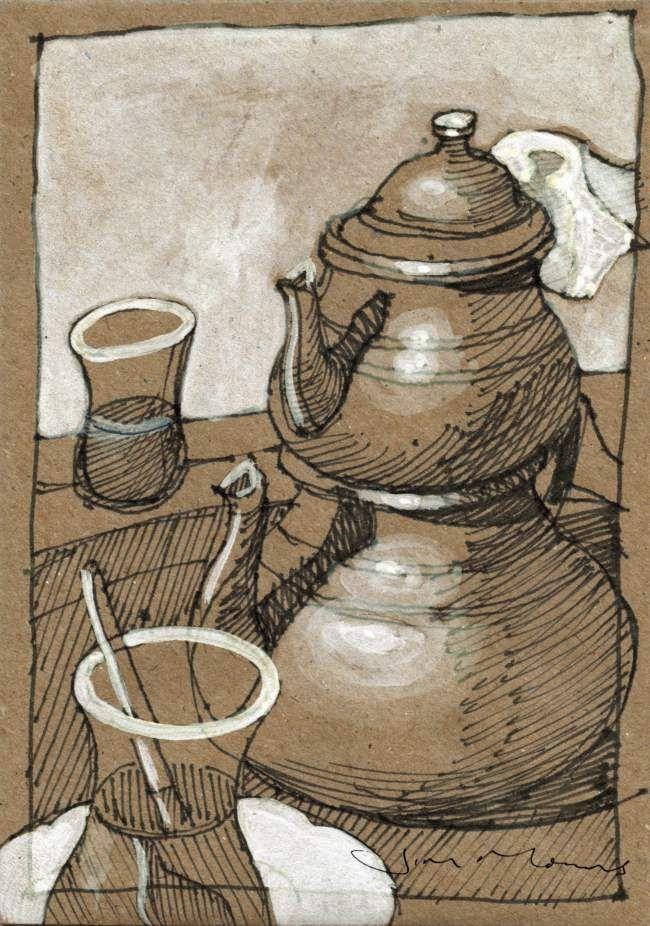 Turkish Tea for Two - Istanbul - jim morris