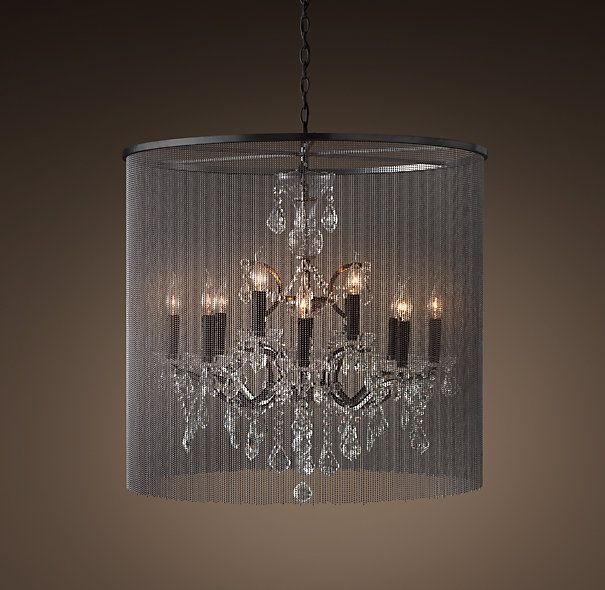 Vaille Crystal Chandelier Medium Home Remes Pinterest Chandeliers Victorian Design And Restoration Hardware