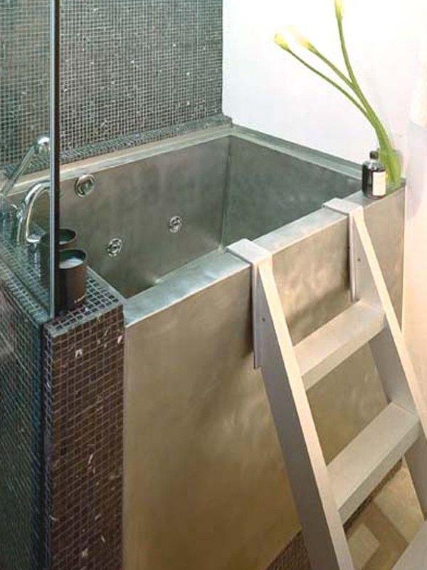 42 best baths images on pinterest bathroom ideas japanese bathroom and room - Japanese bathtubs small spaces gallery ...