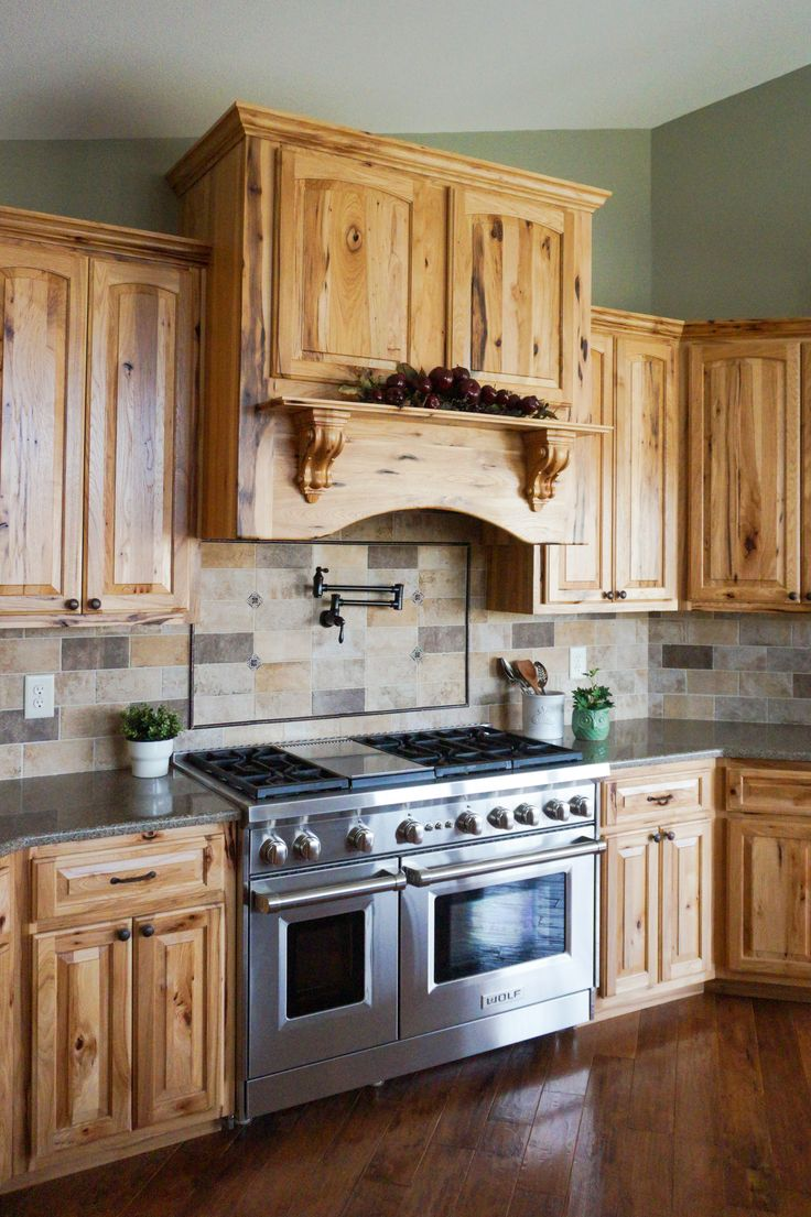 knotty hickory is a beautiful rustic wood that has a range of dark to lighter tones custo on kitchen hutch id=51258