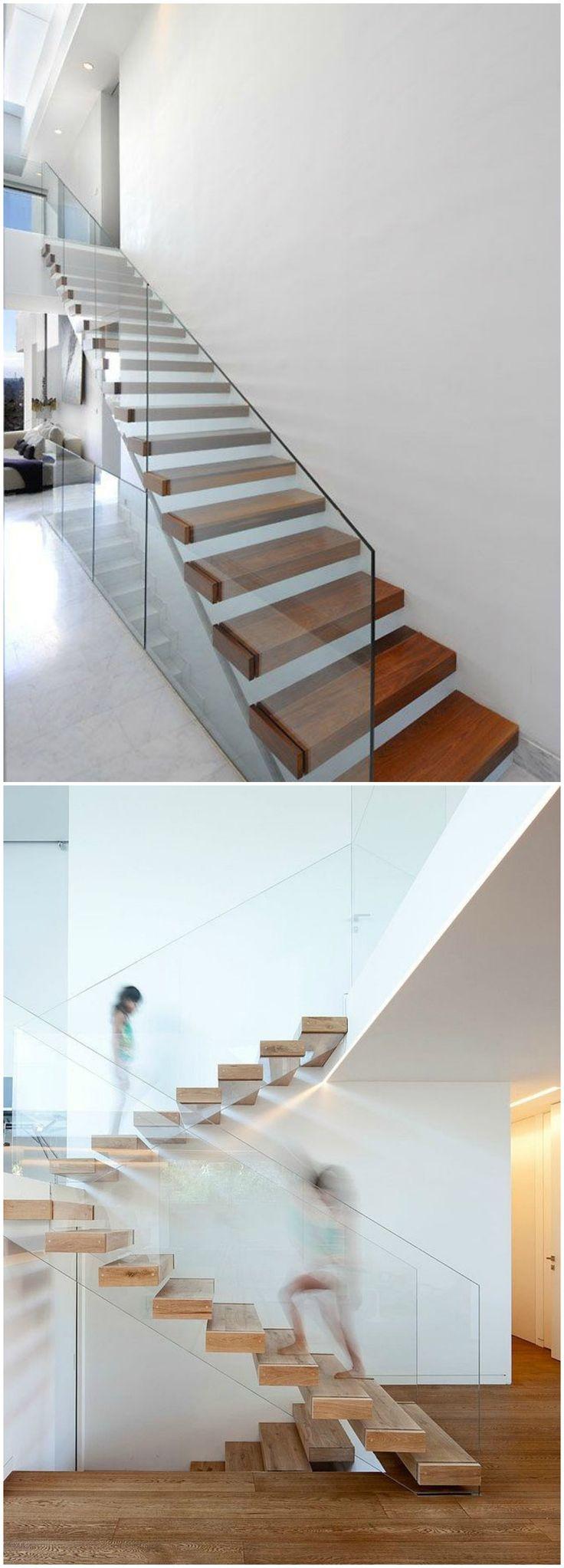 Las 25 mejores ideas sobre escaleras voladas en pinterest - Disenos de escaleras para casas ...