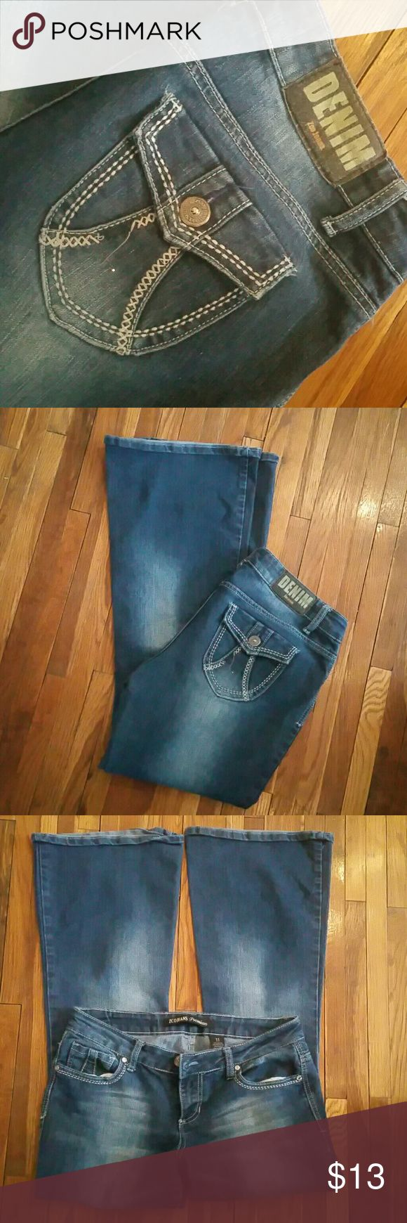 ZCO Premium Jeans Some unstitching on back pocket.  Cute! ZCO Jeans Flare & Wide Leg