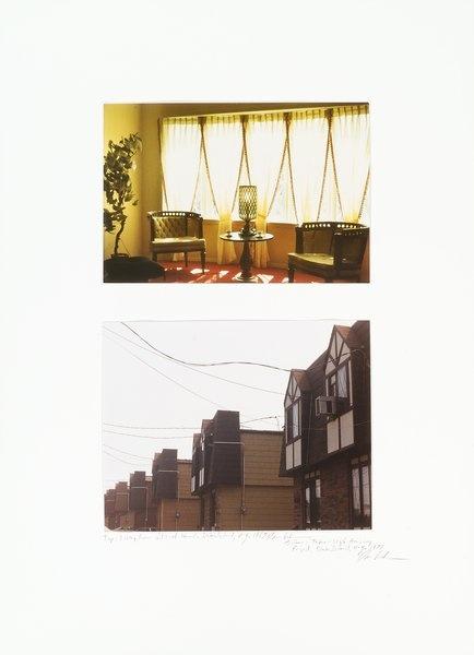 LIVING ROOM IN MODEL HOME/TUDOR STYLE HOUSING PROJECT -DAN ...