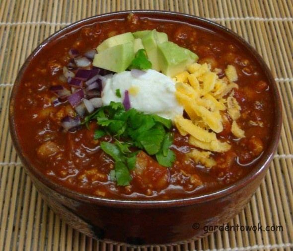Frozen Tofu, Beef & Pinto Bean Sprouts Chili - now that's a mouthful ...