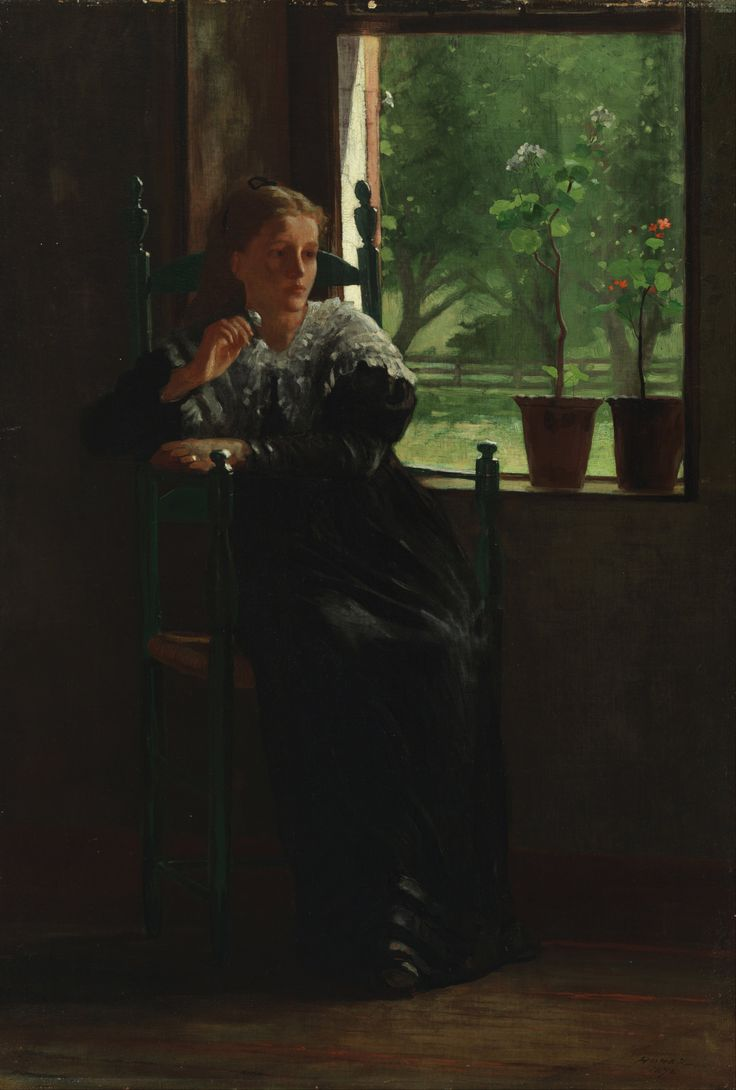 Winslow Homer (American 1836–1910) At the window 1872 https://upload.wikimedia.org/wikipedia/commons/7/7a/Winslow_Homer_-_At_the_Window_-_Google_Art_Project.jpg