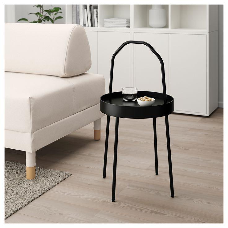 ikea  burvik side table black  black side table ikea
