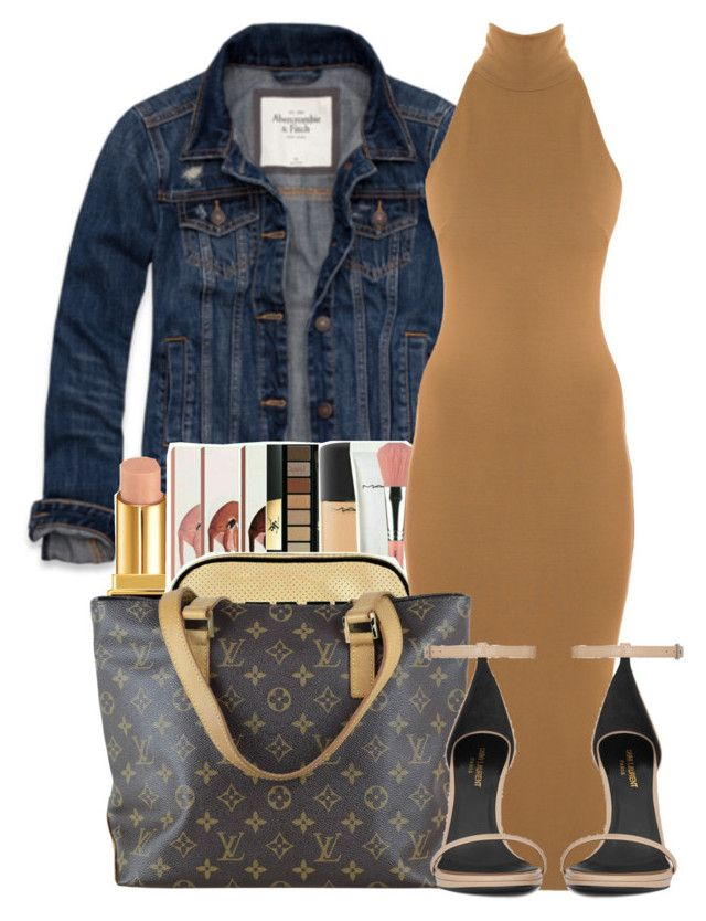 """Untitled #2981"" by alisha-caprise ❤ liked on Polyvore featuring Abercrombie & Fitch, Tom Ford, Torn by Ronny Kobo, Louis Vuitton and Yves Saint Laurent"