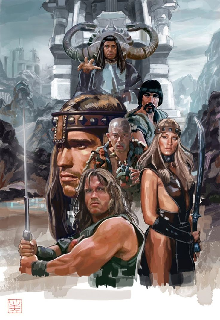 Conan the Barbarian ( Arnold Schwarzenegger, James Earl Jones, Sandahl Bergman, Gerry Lopez, Max von Sydow & Mako )