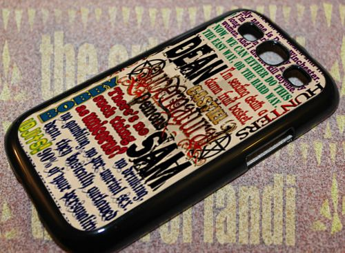 Supernatural Quotes For Samsung Galaxy S3 Black Rubber Case