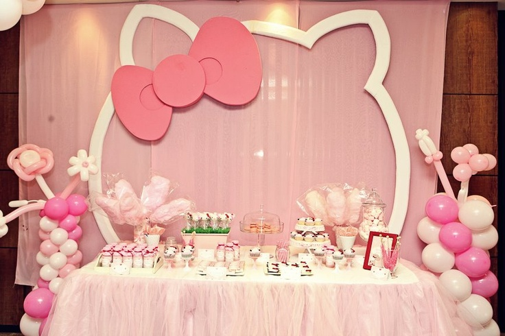 Aqui está uma ideia muito Hello Kitty ...não é difícil de fazer !
