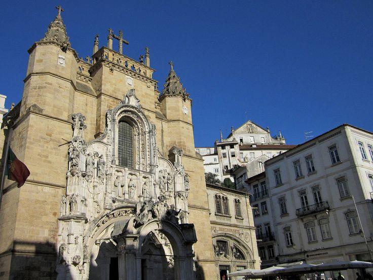 https://flic.kr/p/aDG3jM   Coimbra, praça 8 de Maio: Mosteiro e Café Santa Cruz   tre foto - three images  60 photos of my journey in Portugal in: www.vbs50.com/public/Viaggio in Portogallo/index.html