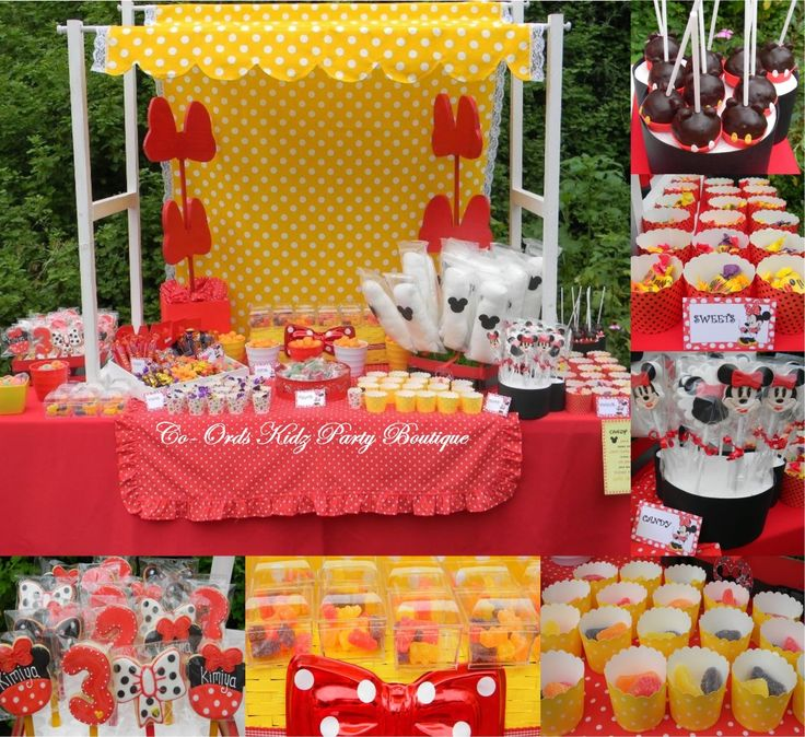 Minnie Mouse candy table by Co-Ords Kidz Party Boutique
